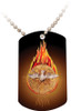 Holy Spirit Fire Dog Tag