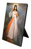 Divine Mercy with Sacred Heart Vertical Desk Plaque