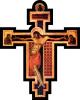 Byzantine Oversized Wall Plaque Crucifix