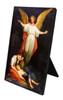 Guardian Angel with Children Resting Vertical Desk Plaque