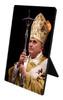 Pope Benedict with Paschal Staff Vertical Desk Plaque