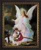 Angel on the Perilous Bridge - Ornate Dark Framed Art