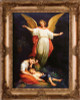 Guardian Angel with Children Resting - Gold Museum Framed Canvas