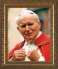 St. John Paul II Addressing the Faithful Framed Art