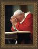 Pope John Paul II Kneeling Framed Art