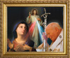 St. John Paul II, Mary and Divine Mercy Framed Art
