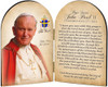 Commemorative Pope John Paul II Sainthood Quote Arched Diptych