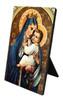 Our Lady of Mt. Carmel Vertical Desk Plaque