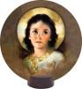 Christ Child Round Desk Plaque