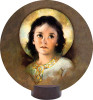 Christ Child Round Desk Plaque