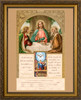 First Communion and Confirmation Certificate with Gold Accents in Gold Frame