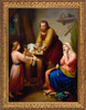 The Holy Family by Rafael Flores - Gold Framed Art