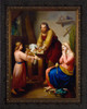 The Holy Family by Rafael Flores - Ornate Dark Framed Art