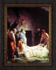The Burial of Christ by Carl Bloch - Ornate Dark Framed Art