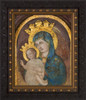 Mater Ecclesiae - Our Lady of the Column Restored - Ornate Dark Framed Art