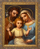 Italian Holy Family - Ornate Gold Framed Art