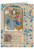 Christ Before Pilate by William Vrelant Illuminated Manuscript Note Card