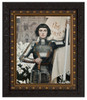 St. Joan of Arc by Albert Lynch - Ornate Dark Framed Art