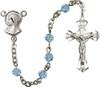 Hand-Made Madonna Rosary with Swarovski Beads