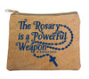 """The Rosary"" Large Tan Rosary Bag"