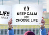 Keep Calm and Choose Life Waterproof Signs (Pack of 12)
