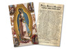 Spanish Virgin of Guadalupe Holy Card