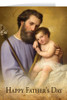 St. Joseph and the Infant Jesus Father's Day Greeting Card