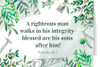 """""""A Righteous Man"""" Father's Day Greeting Card"""