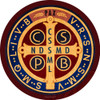 Benedictine Medal Emblem Decal
