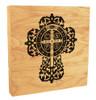 Benedictine Cross Rustic Box Art