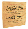 """""""Greater Love Has No One Than This"""" Rustic Box Art"""