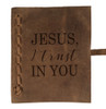 """""""Jesus, I Trust In You"""" Rustic Leather Journal"""