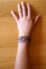 """""""Act And God Will Act"""" Rustic Leather Bracelet"""