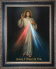 LIMITED EDITION Divine Mercy - Black and Antique Metallic Framed Canvas