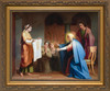Veronica Presenting Her Veil to Mary and John Framed Art