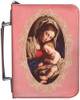 Personalized Bible Cover with Madonna and Her Child Graphic - Rose