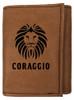 CORAGGIO Tri-Fold Leather Wallet