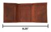 CORAGGIO Pelican Tri-Fold Leather Wallet