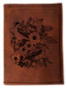 CORAGGIO Lilies & Sparrows  Tri-Fold Leather Wallet