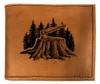 CORAGGIO Axe & Stump Bi-Fold Leather Wallet