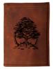 CORAGGIO Cedar of Lebanon Tri-Fold Leather Wallet