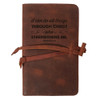 """""""I Can Do All Things"""" Rustic Leather Journal Cover"""