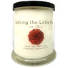 """""""Walking The Little Way with Therese""""  Rose Petals Soy Candle"""