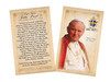 Pope John Paul II Sainthood Commemorative Holy Card with Quote