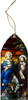 Flight into Egypt II Stained Glass Wood Ornament