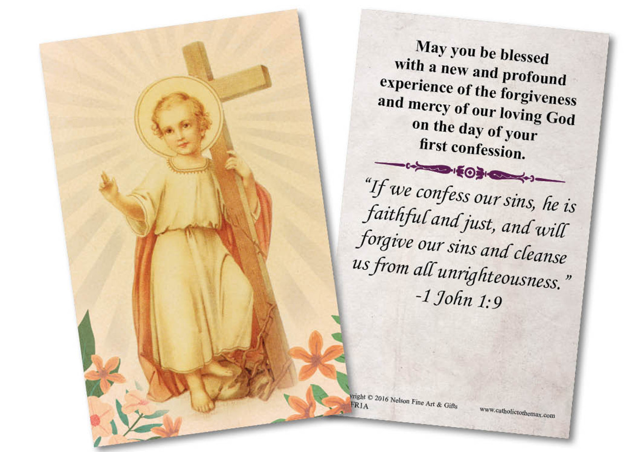 Christ Child First Reconciliation Holy Card