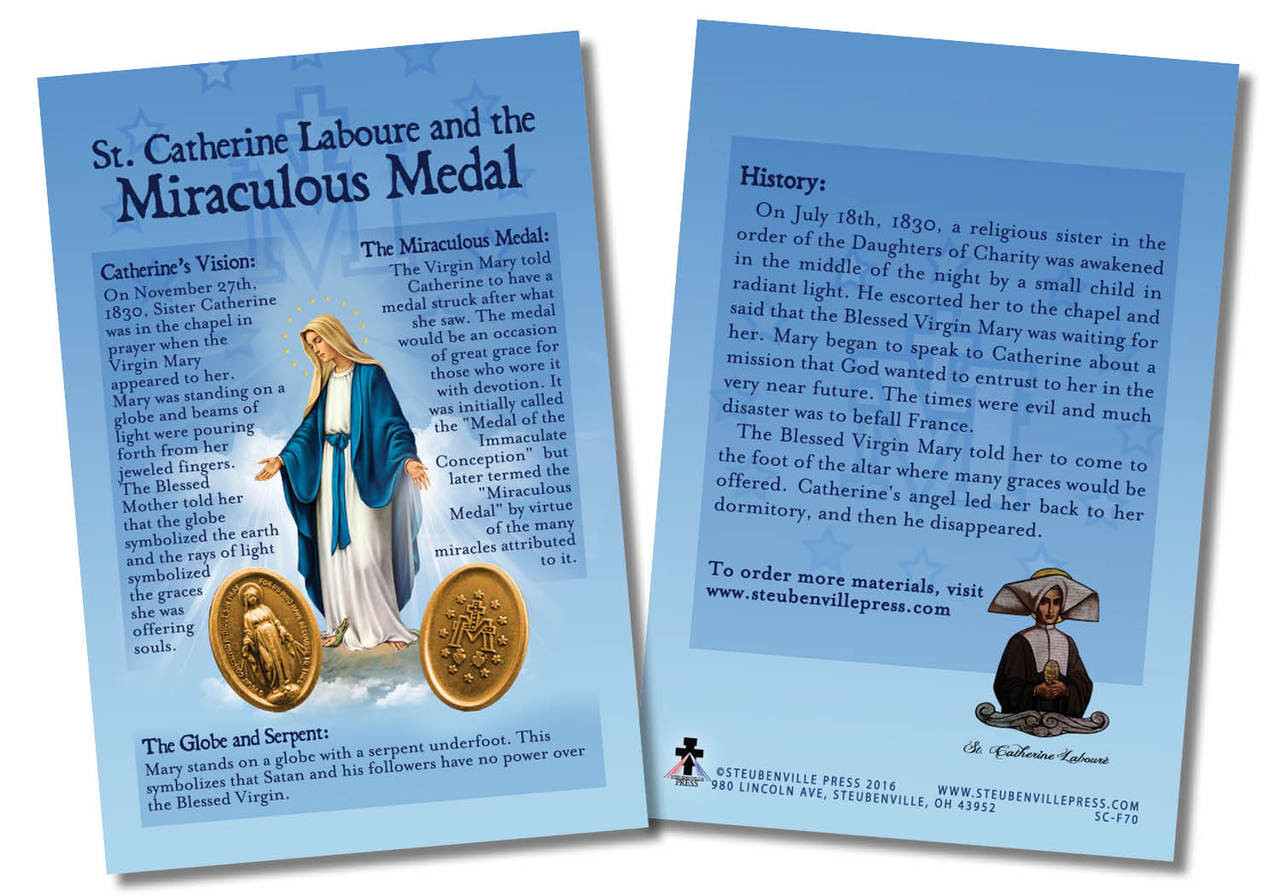St Catherine Laboure And The Miraculous Medal Faith Explained Card Catholic To The Max Online Catholic Store
