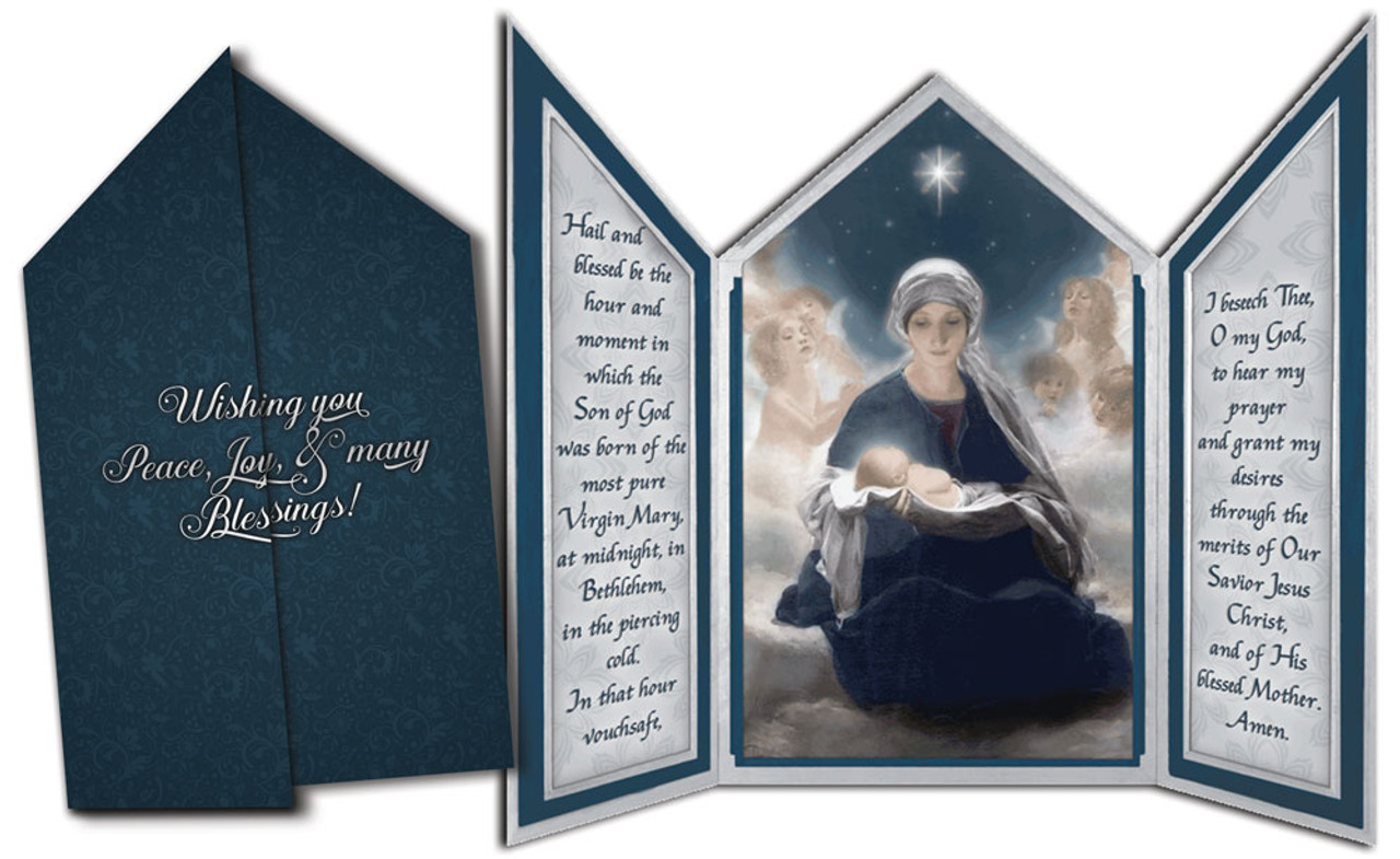 Star of Bethlehem Tri-fold Triptych Christmas Cards with St. Andrew ...