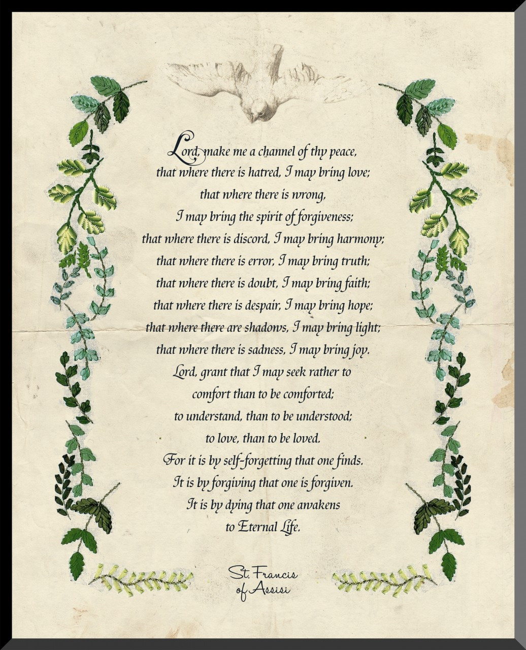 St Francis Prayer Graphic Wall Plaque Catholic To The Max Online Catholic Store