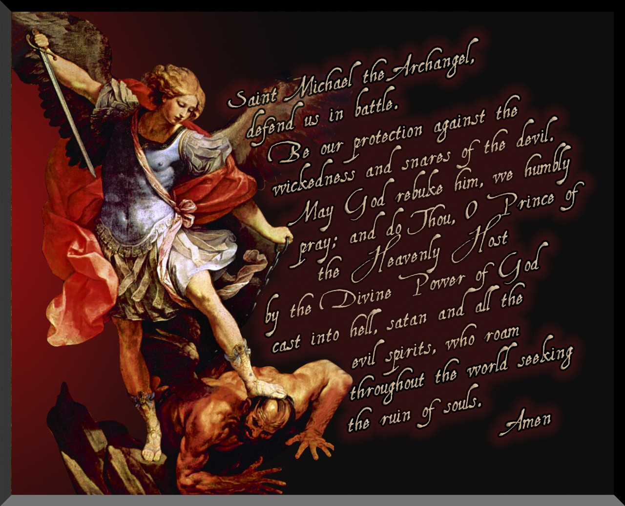 St Michael The Archangel Graphic Wall Plaque Catholic To The Max Online Catholic Store